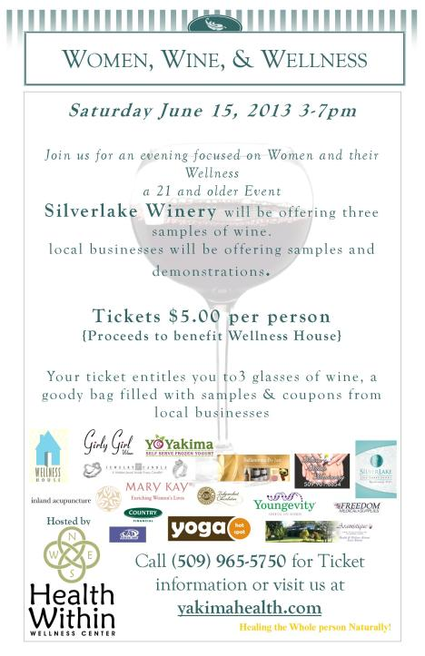 Women wine wellness event flyer 2